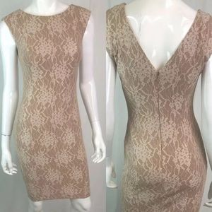 French Connection Floral Lace Sheath Pencil Dress